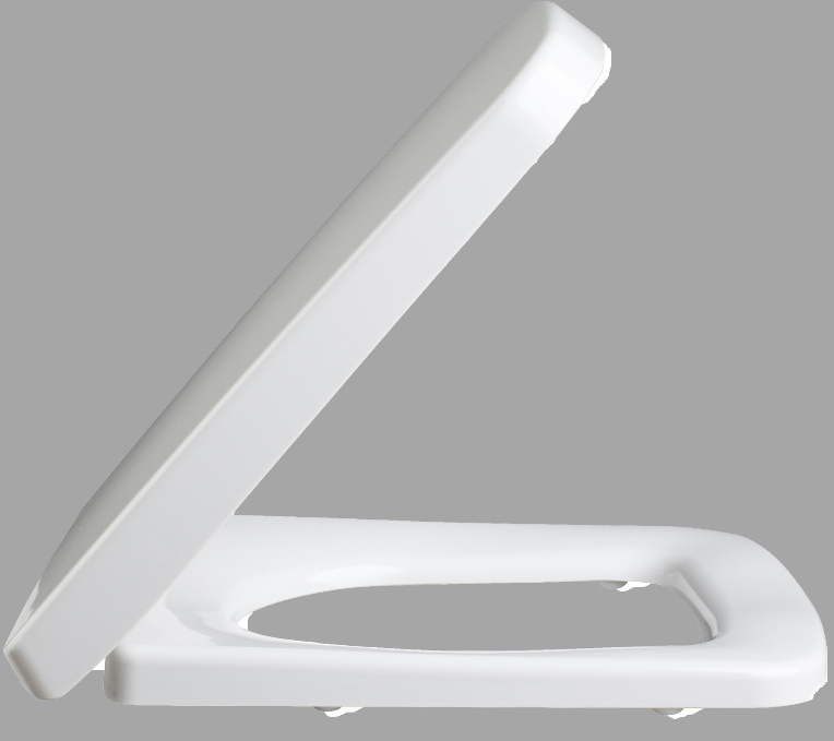 lauren white square quick release soft close toilet seat. Black Bedroom Furniture Sets. Home Design Ideas