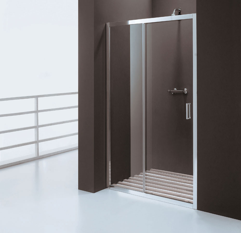 Balterley framed single sliding shower door 1000mm for 1000mm shower door