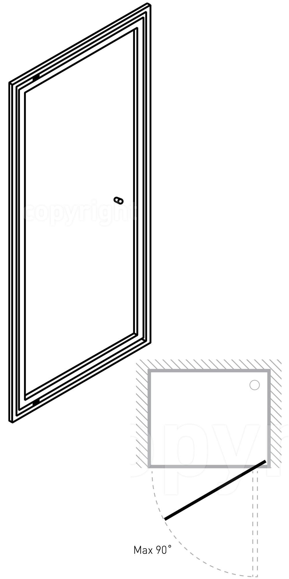 Simpsons edge 1000mm pivot shower door for 1000mm pivot shower door