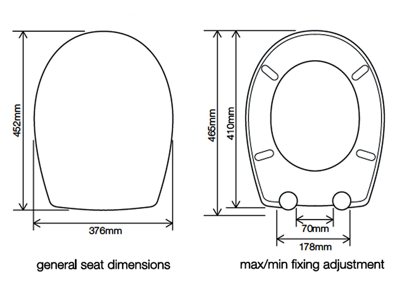 Roper Rhodes Neutron Soft Closing Toilet Seat