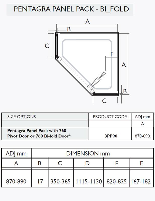 Kudos Original White Pentagra Panel Pack With Bi Fold Door