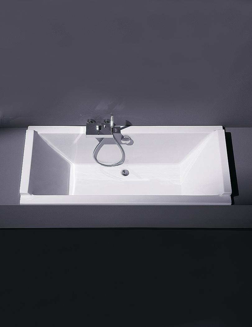 duravit starck 1800x800mm rectangular double ended built in bath. Black Bedroom Furniture Sets. Home Design Ideas