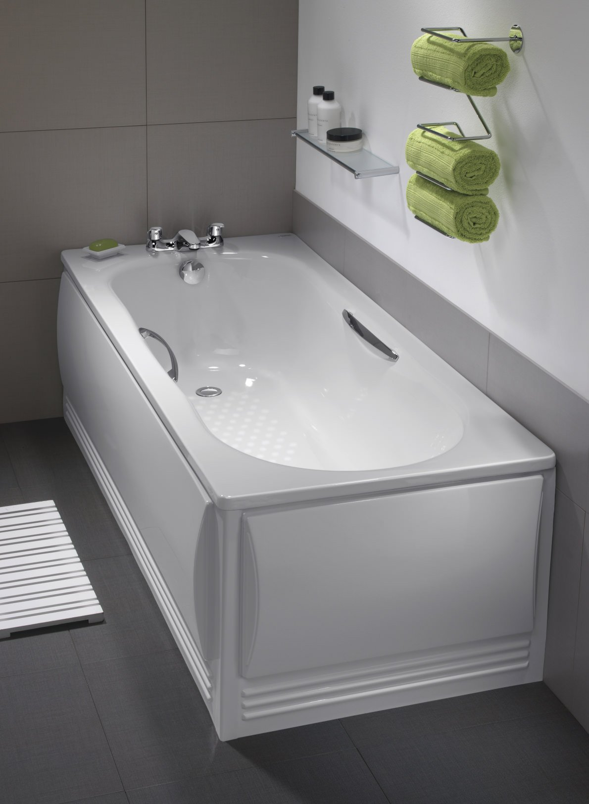 Twyford celtic slip resistant steel bath 1600 with legs for Bath 1800