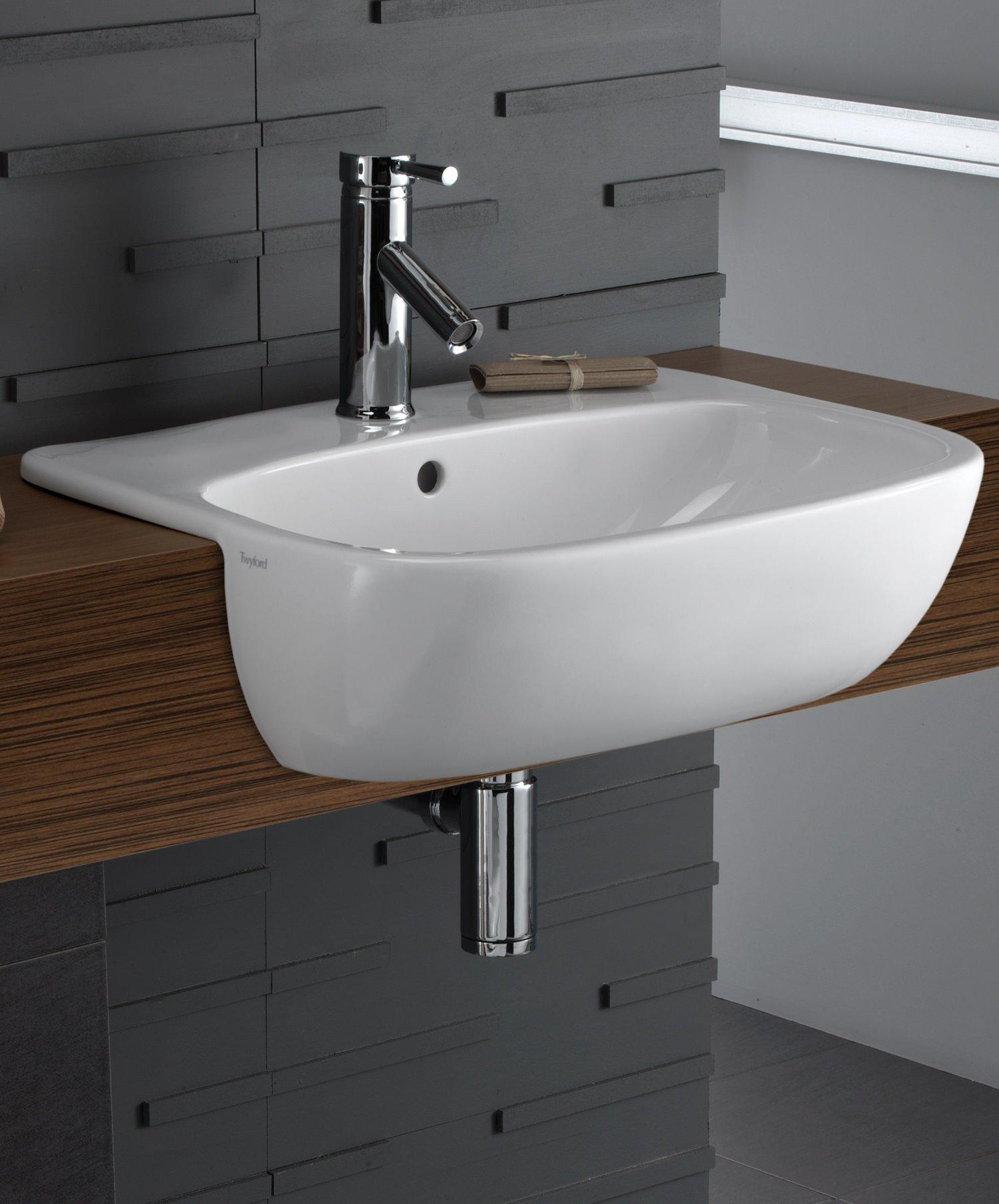 Twyford Moda 550mm Semi-Recessed Basin