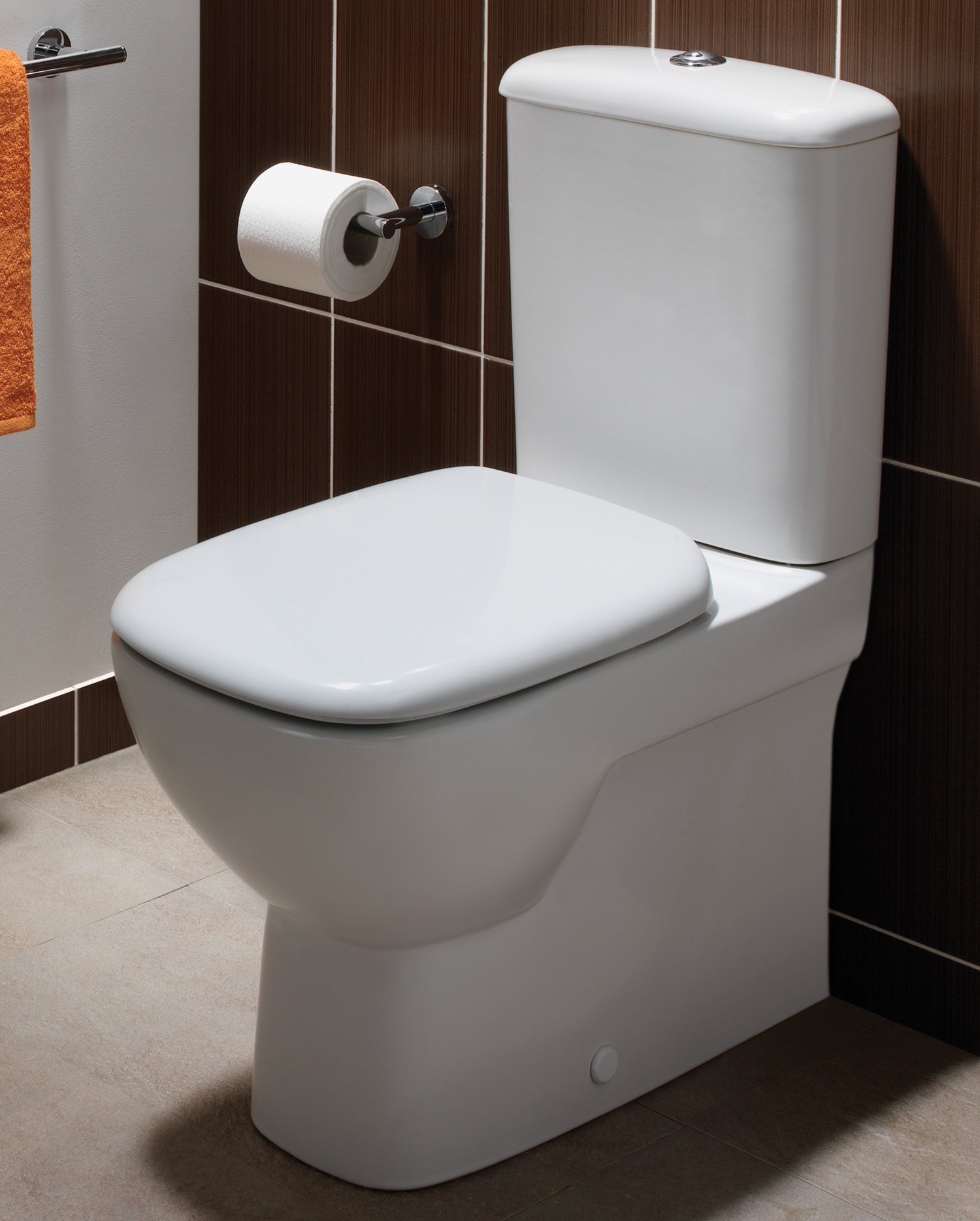 Twyford Moda Close Coupled Back To Wall Wc Pan With