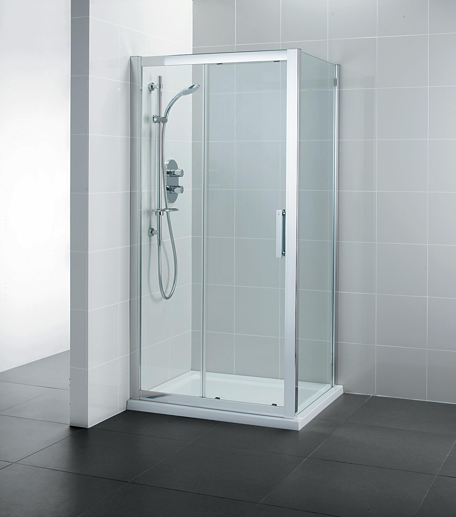 Ideal standard synergy sliding shower door 1200mm for 1200mm shower door