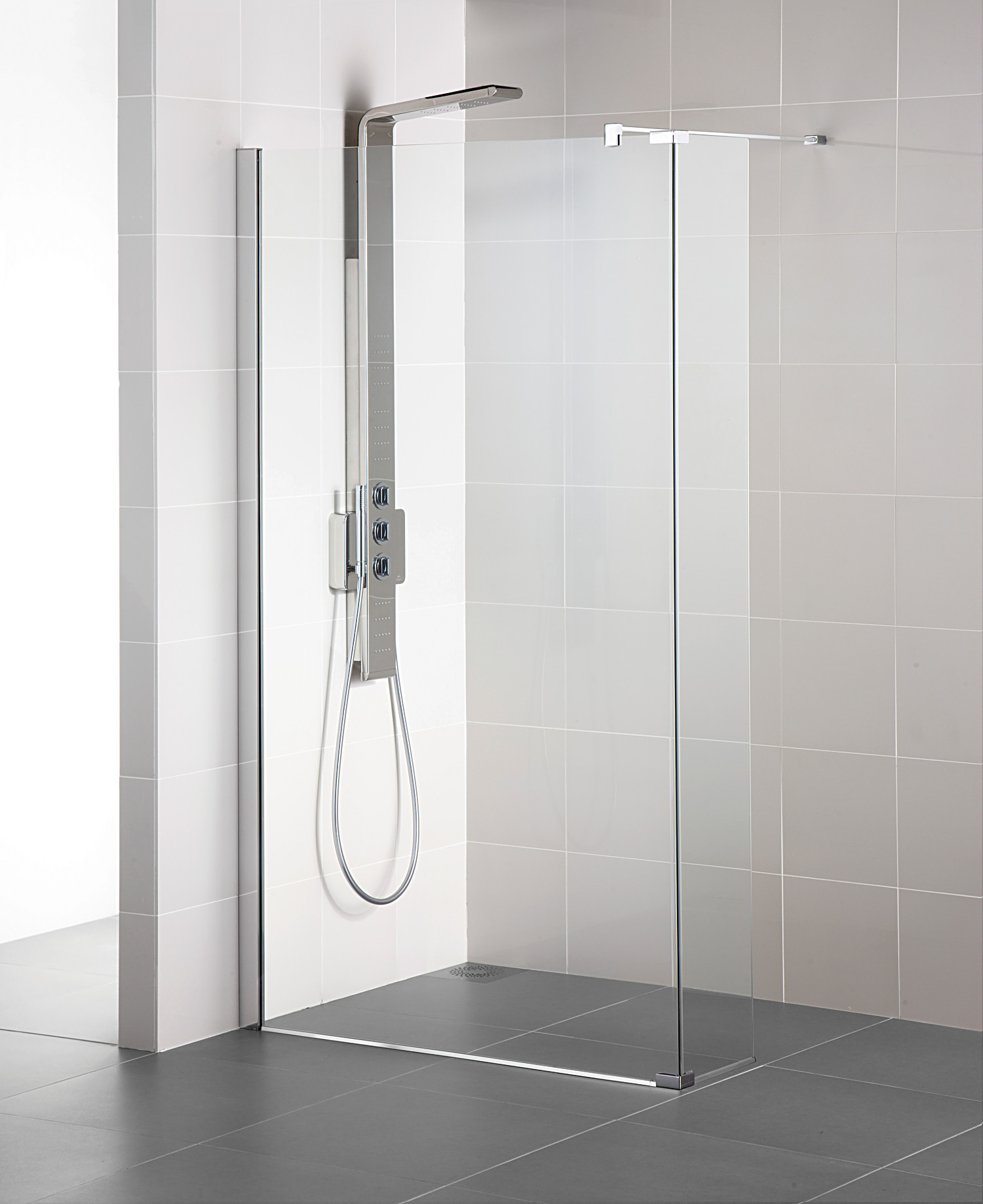 Ideal standard synergy 700mm wetroom panel for Porte gel douche mural