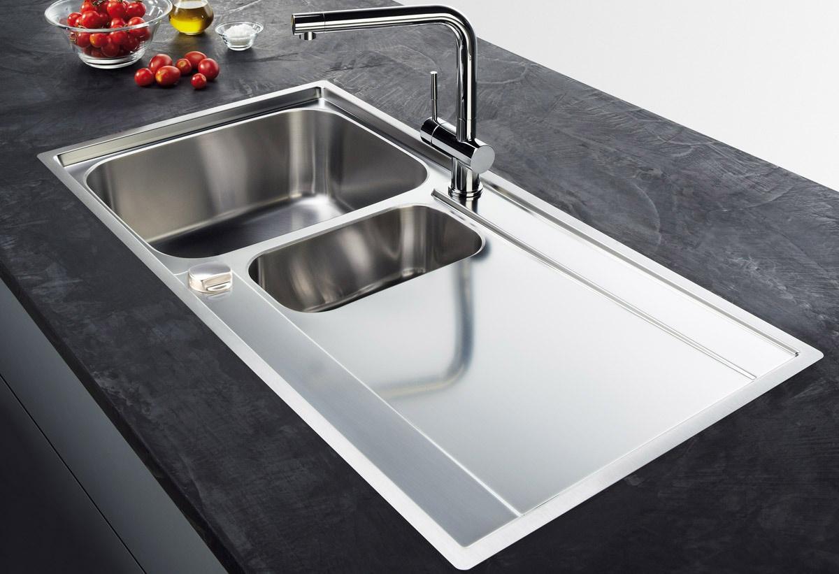 Franke Sink Tops : Franke Maris MRX 251 Slim-Top Stainless Steel RHD Inset Sink