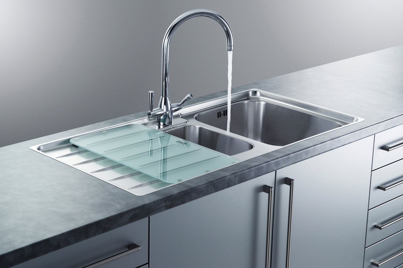 Franke Laser LSX 651 Stainless Steel Left Hand 1.5 Bowl Inset Sink