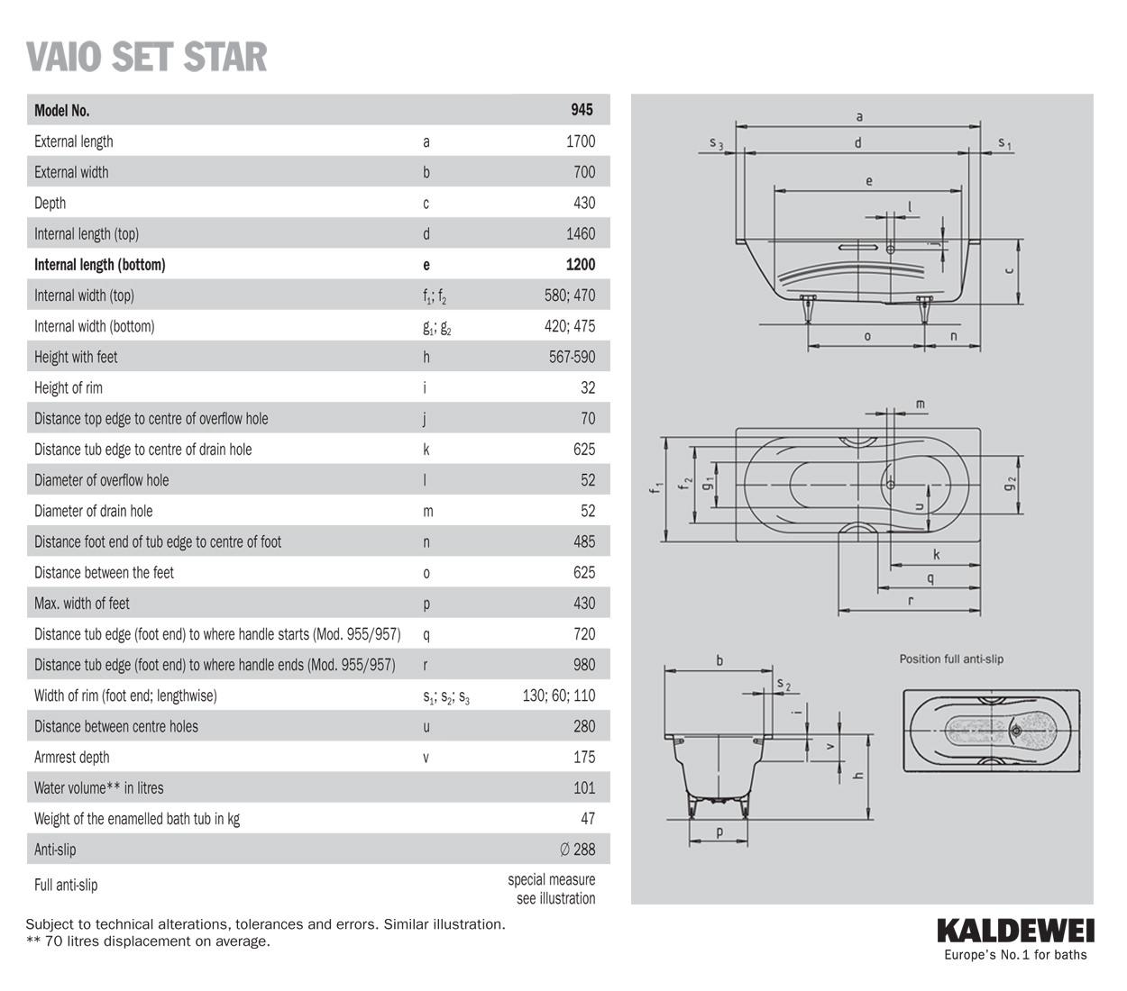 kaldewei ambiente vaio set star 945 steel shower bath 1700 bette cora ronda p shaped super steel shower bath 1700 x