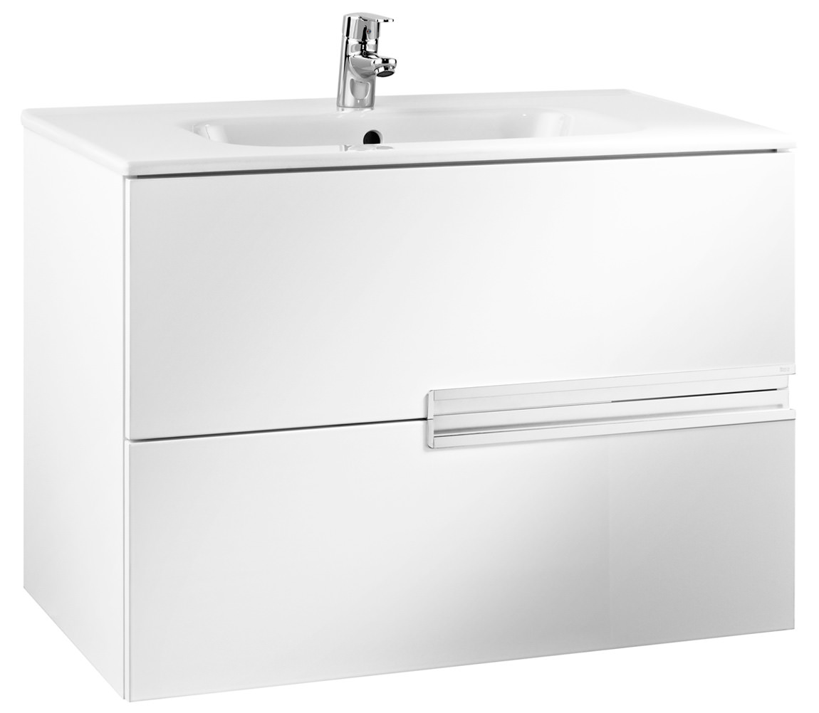 Roca victoria n unik basin and unit with 2 drawers 800mm for Mueble unik victoria
