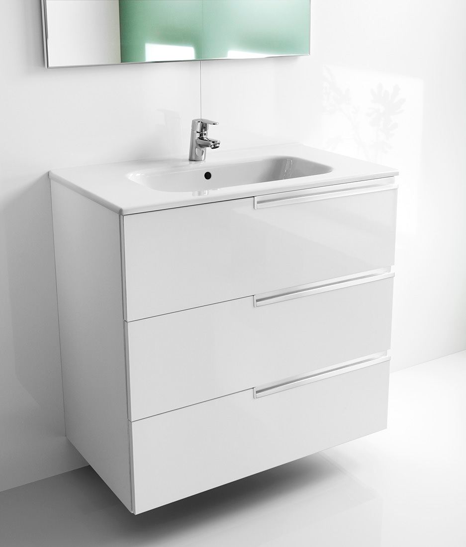 Roca Victoria N Unik Basin And Unit With 3 Drawers 600mm White