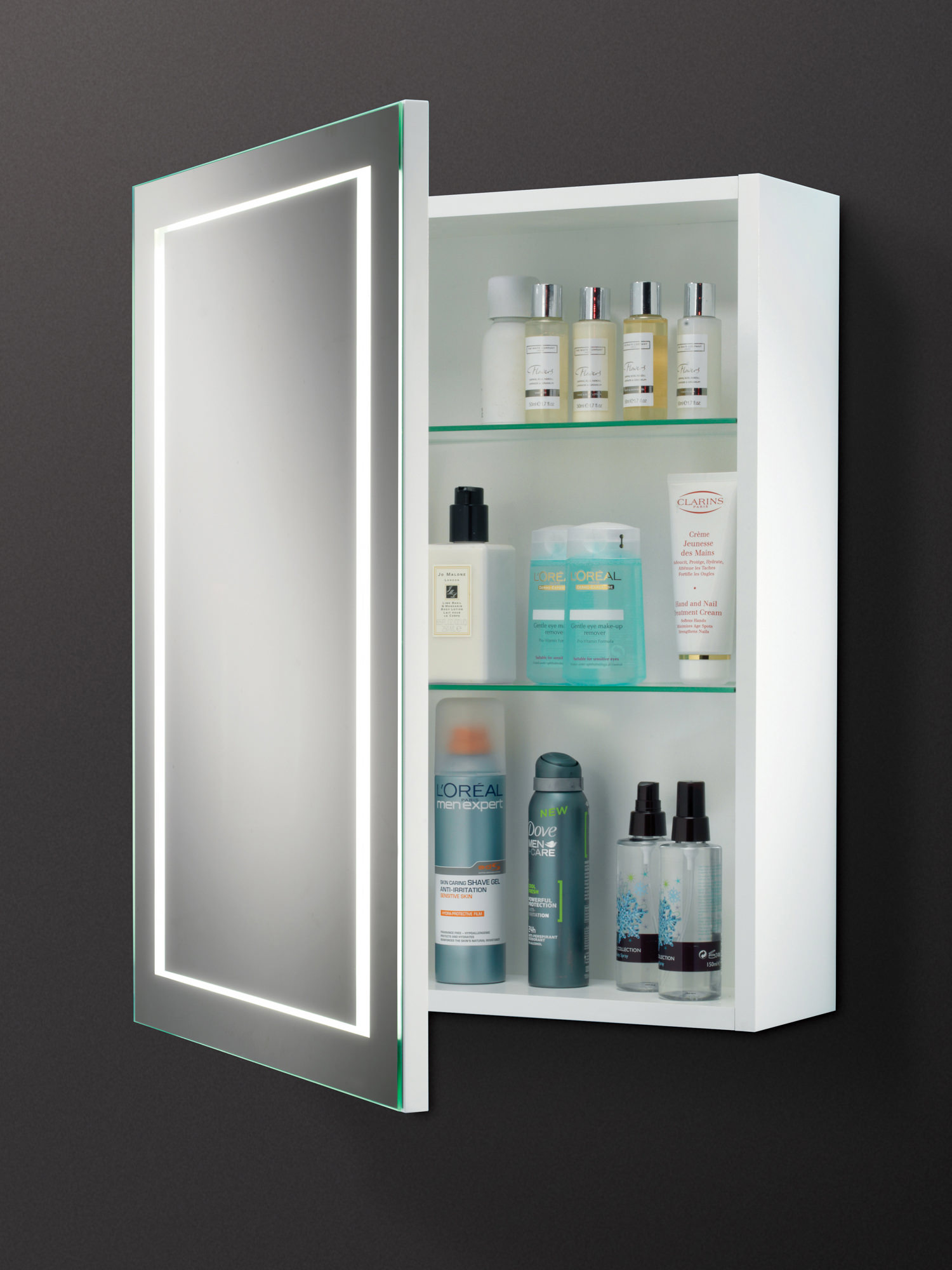 HIB Austin Single Door LED Illuminated Bathroom Cabinet 500 x 630mm
