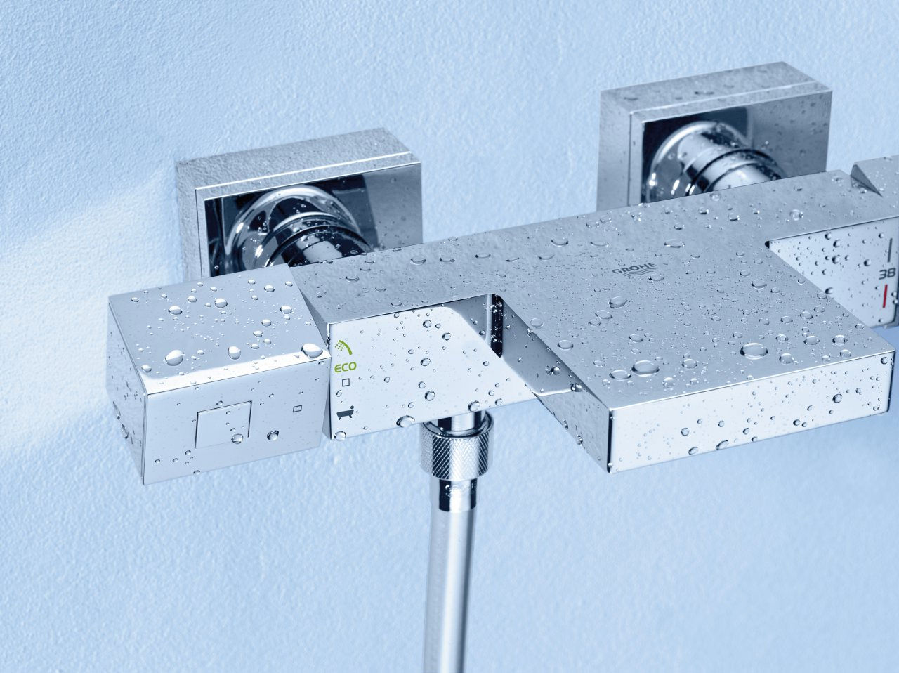 Grohe Grohtherm Cube Thermostatic Wall Mount Bath Shower