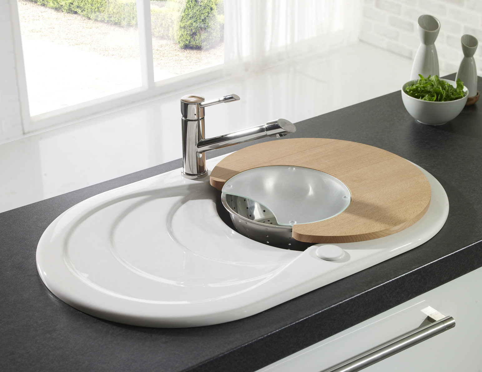 Astracast Cascade White Or Black Ceramic Inset Sink 1 0 Bowl