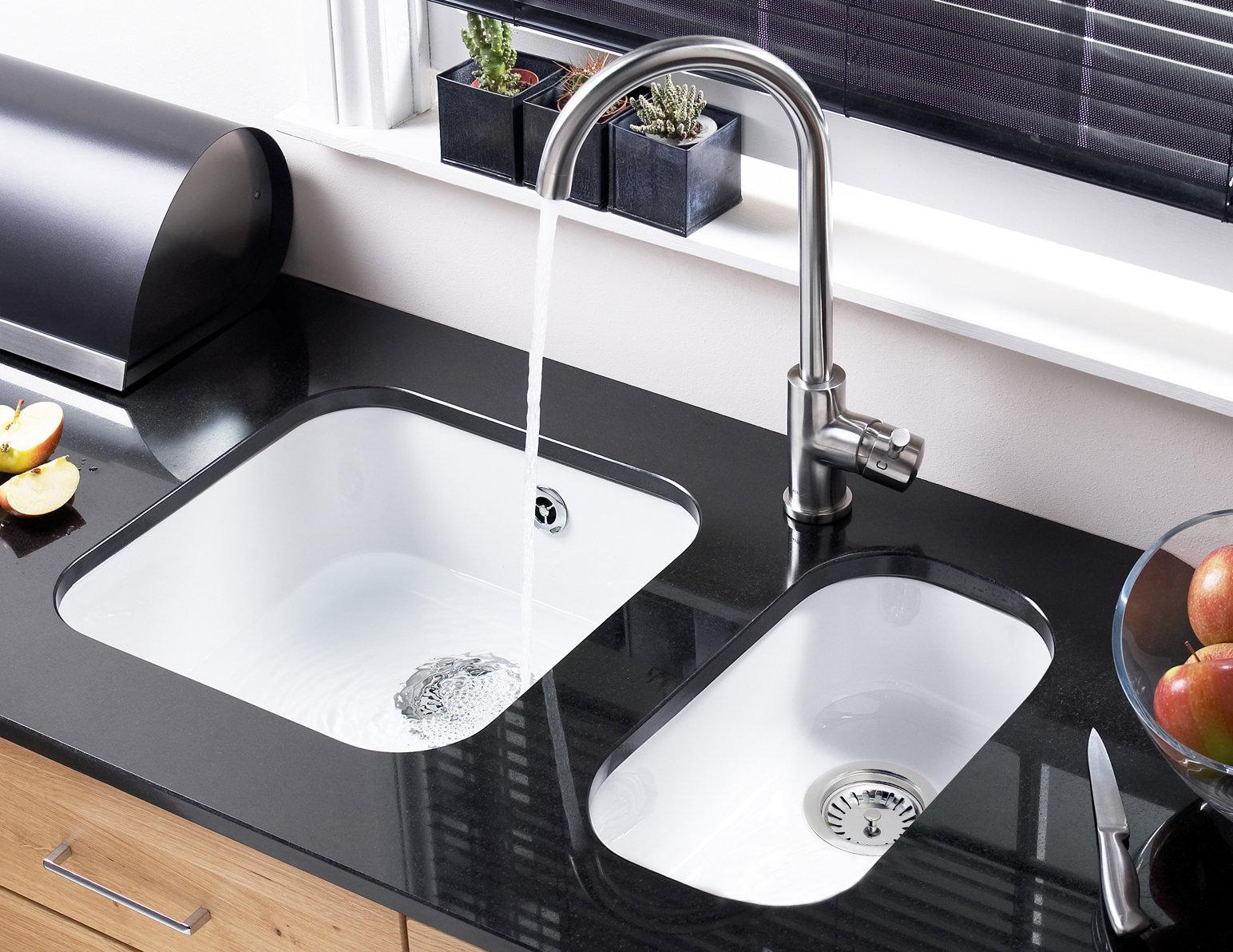 Astracast Lincoln 4040 White Ceramic Undermount Sink