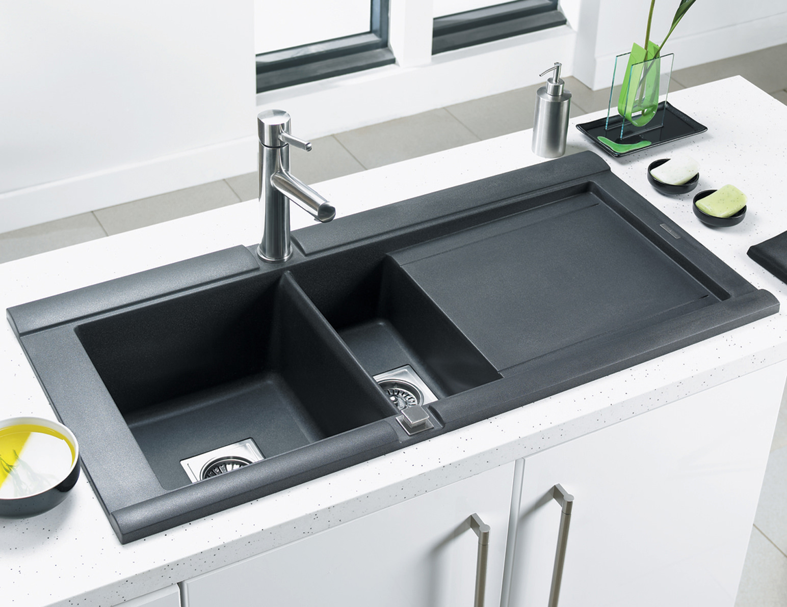 Astracast Geo Comp ROK Metallic Inset Sink And Accessories - 1.5B