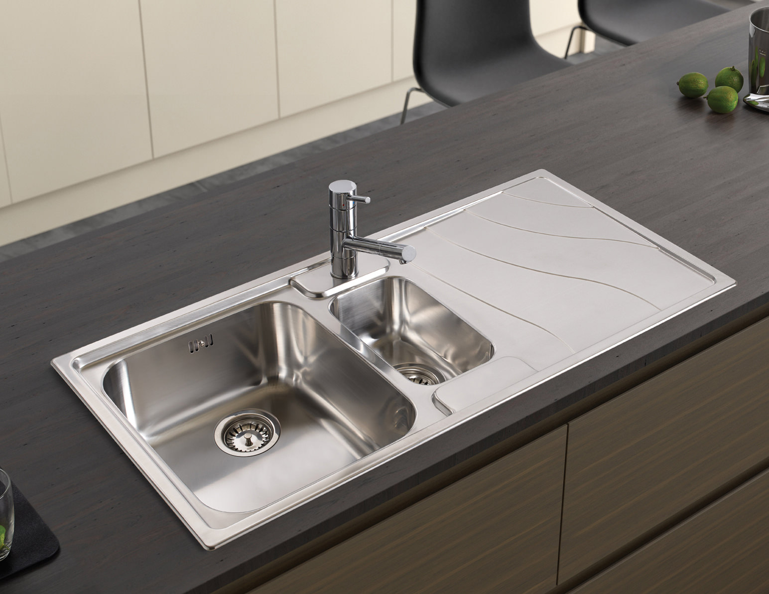 Inset Bathroom Sink Bowl : ... inset sink 1 5 bowl features astracast ocean kitchen sink drainer
