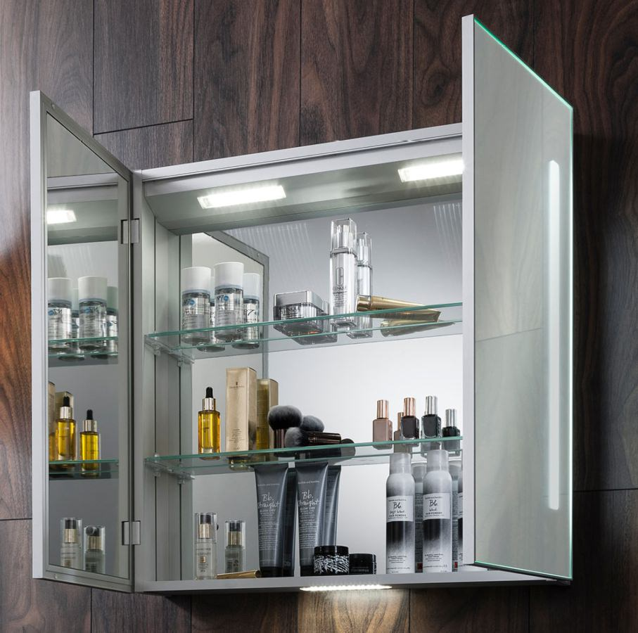 Bauhaus allure double door 700 x 700mm mirror cabinet for Kitchen cabinets 700mm